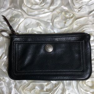 Coach Coin/Bill Pouch Black Leather